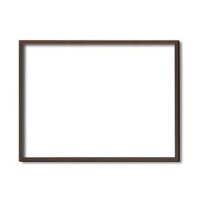 ds-2349689 【木製額】色あせを防ぐUVカットアクリル ■デッサン額 小全紙サイズ(660×510mm)ブラウン 壁掛けひも付き 化粧箱入り (ds2