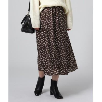 UNTITLED(アンタイトル) 【洗える】ヴィンテージフローラルプリントスカート