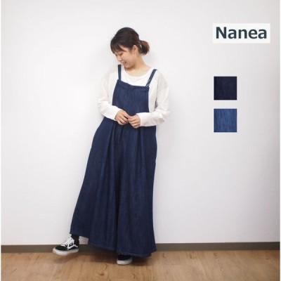nanea/ナネア エアレットデニム キャミ オールインワン レディースファッション
