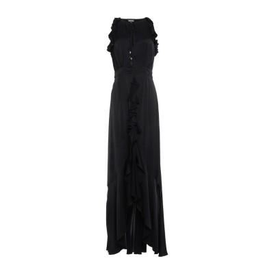 ジャストカヴァリ JUST CAVALLI ロングワンピース&ドレス ブラック 44 レーヨン 100% ロングワンピース&ドレス