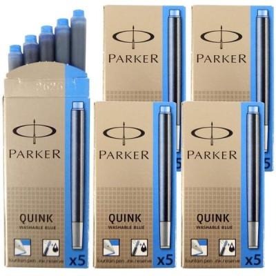 パーカー PARKER カートリッジインク クインク QUINK ウォッシャブルブルー 5箱セット (1箱 5本入り) S1162230 S01162