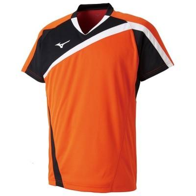 MIZUNO ミズノ ゲームシャツ ラケットスポーツ ユニセックス フレイムオレンジ テニス バトミントン 72MA800553