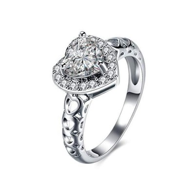 YouBella Jewellery Stylish Silver Plated Solitaire Crystal Ring for Women a