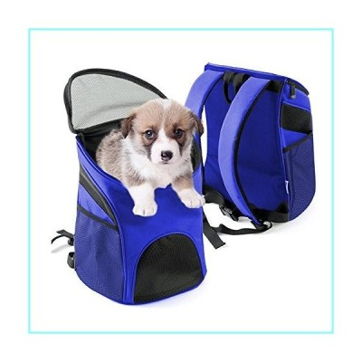 Vivi Bear Pet Carrier Backpack Shoulder Bags for Dogs and Cats Ferrets Guinea Pigs Perfect for Travel, Cycling, Hiking & Outdoor .(Blue L).