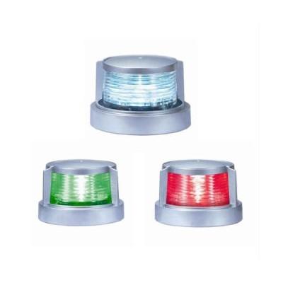 LED航海灯 小糸 小型船舶用 船灯 3個セット 白灯  舷灯 (緑・紅) 航海灯12V・24V兼用 ボディ色 シルバー 小糸製作所 第2種