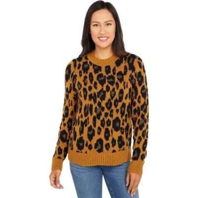 ラッキーブランド Lucky Brand レディース トップス Leopard Intarsia Pullover Camel Heather