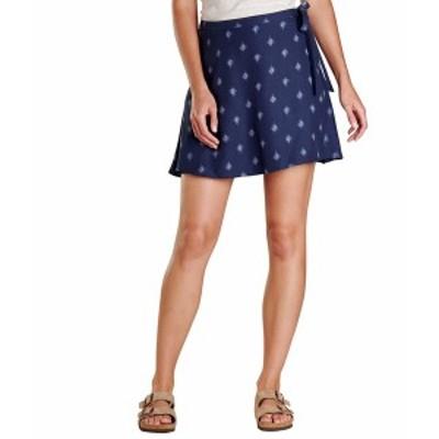 ドード アンドコー レディース スカート ボトムス Hillrose Wrap Skirt True Navy Geo Motif Print