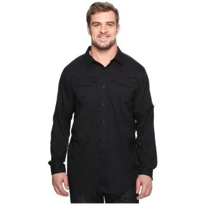 コロンビア Columbia メンズ シャツ 大きいサイズ トップス Big and Tall Silver Ridge Lite Long Sleeve Shirt Black