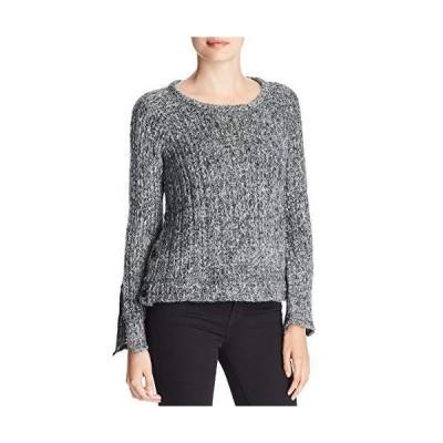 Three Dots Women's WK2809 Melange Heavy Sweater, Charcoal, Large並行輸入品 送料無料