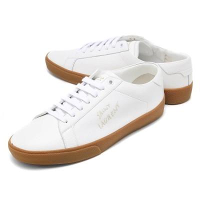 サンローランパリ スニーカー/革靴 シューズ メンズ コート クラシック ローカット 刺繍 ブランホワイト 610685 00N00 9030 SAINT LAURENT PARIS