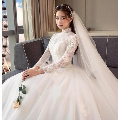 ロングドレス イブニングドレス ウエディングドレス 高品質ドレス カラードレス パーティードレス 豪華 花嫁 礼服 結婚式 披露宴 謝恩会 二次会ドレス ホワイト