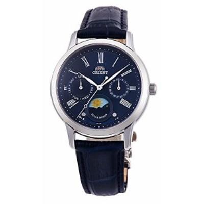 腕時計 オリエント レディース ORIENT 'Sun & Moon' Roman Indices Leather Lady Quartz Blue KA0004L