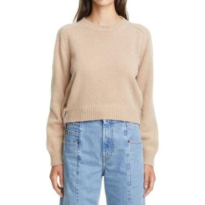 メゾン マルジェラ MAISON MARGIELA レディース ニット・セーター トップス Gathered Shoulder Wool & Alpaca Crop Sweater Beige