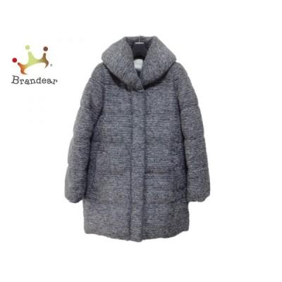 ティアラ Tiara コート サイズ3 L レディース グレー×白 冬物   スペシャル特価 20200317