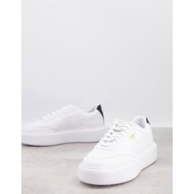 プーマ レディース スニーカー シューズ Puma Osla Maja sneakers in triple white White