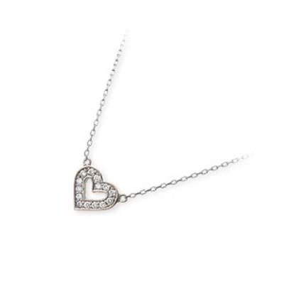 ネックレス レディース Victorina ホワイトゴールド ハート ダイヤモンド 4月の誕生石 誕生日プレゼント ギフト