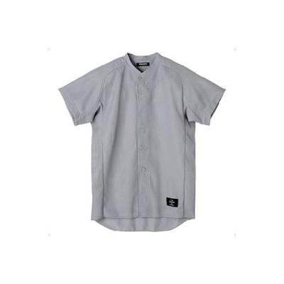 デサント(DESCENTE) 立衿ボタンダウンシャツ(スーパーライトリブメッシュ) STD-51TA SLV シルバー M