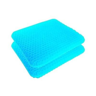 チチロバ(TITIROBA) ゲルクッション 二重 無重力 クッション 腰楽クッション 座布団 腰痛対策 体圧分散 通気性抜群