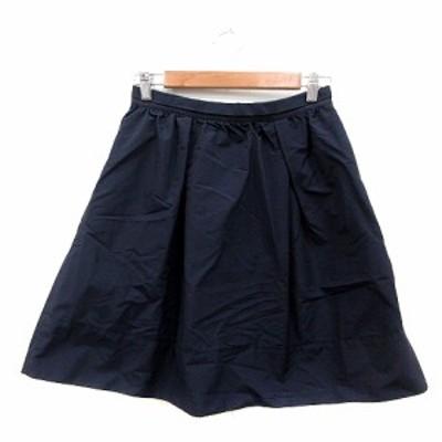 【中古】ロペピクニック ROPE Picnic フレアスカート ひざ丈 40 紺 ネイビー /MN レディース