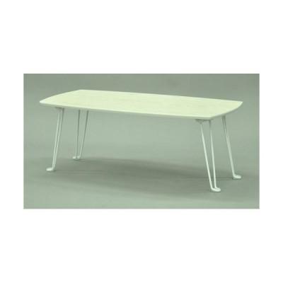 エイ・アイ・エス 折脚テーブル8040/SRMM-8WH ホワイト/幅80x奥行40x高さ31cm