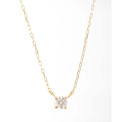 レディース アンサンブル K18・0.1ct ダイヤモンド 4ネックレス ゴールド フリー