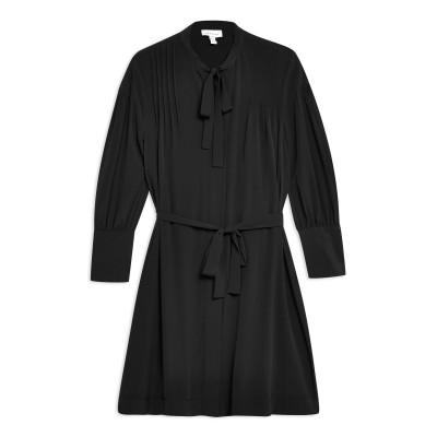 トップショップ TOPSHOP ミニワンピース&ドレス ブラック 12 ポリエステル 100% ミニワンピース&ドレス