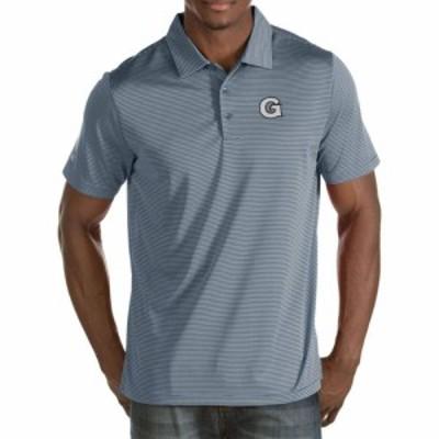 アンティグア Antigua メンズ ポロシャツ トップス Georgetown Hoyas Grey Quest Polo