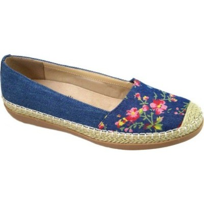 ビーコンシューズ レディース サンダル シューズ Naples Espadrille Denim Floral Fabric