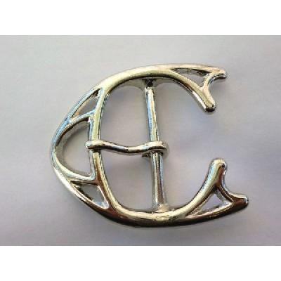 ベルト幅45mm用 鹿バックル (シルバー)真鍮無垢 ブラス
