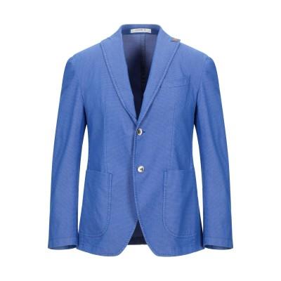 GIACCHE' テーラードジャケット アジュールブルー 50 コットン 68% / ポリエステル 30% / ポリウレタン 2% テーラードジャケ
