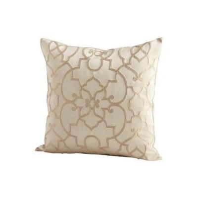 シアンデザインロイヤルCelebration枕ロイヤルCelebration 22?x 22正方形枕、 ゴールド 06532