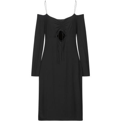 ALEXANDERWANG.T ミニワンピース&ドレス ブラック L レーヨン 95% / ポリウレタン 5% / シルク ミニワンピース&ドレス