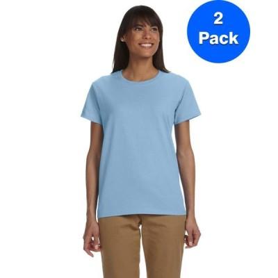 レディース 衣類 トップス Womens 6.1 oz. Ultra Cotton T-Shirt 2 Pack Tシャツ