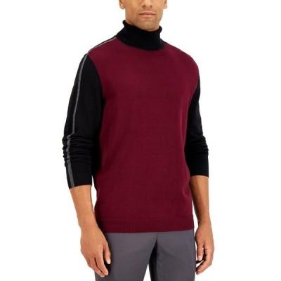 アルファニ ニット&セーター アウター メンズ Men's Stripe Turtleneck Sweater Port