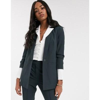 エイソス ASOS DESIGN レディース スーツ・ジャケット アウター mix & match suit blazer フォレストグリーン