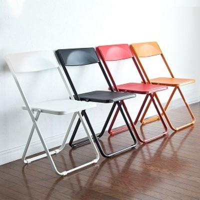 スリム 折りたたみ椅子 4脚セット おしゃれ フォールディングチェア  [150-SNCH006]