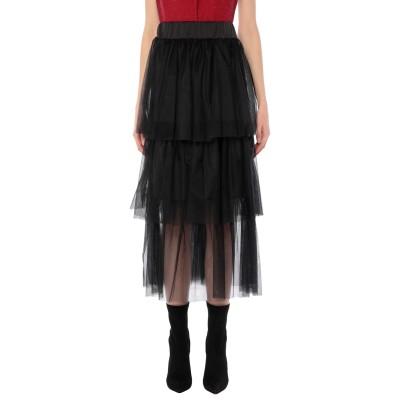 スーベニア SOUVENIR ロングスカート ブラック S ポリエステル 96% / 指定外繊維(その他伸縮性繊維) 4% / ナイロン ロングスカ