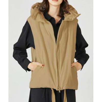 MARcourt/マーコート 【2020AW新作】MIDUMISOLID for Ladies フード付きダウンベスト beige FREE