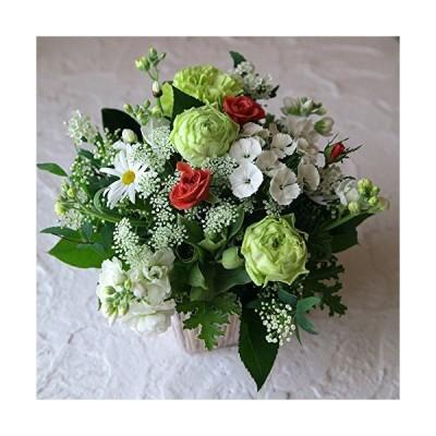 フラワー ギフト 結婚 アレンジメント ホワイト 白系 結婚祝いに 季節のお花を使った生花 フラワーアレンジメ