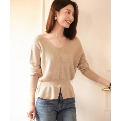 SAISON DE PAPILLON / 11色4size裾フレアペプラムニットトップス WOMEN トップス > ニット/セーター
