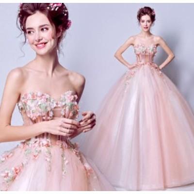 結婚式 パーティードレス ワンピース ファッション レディース ブライズメイド 二次会 体型カバー aライン 発表会 女子会