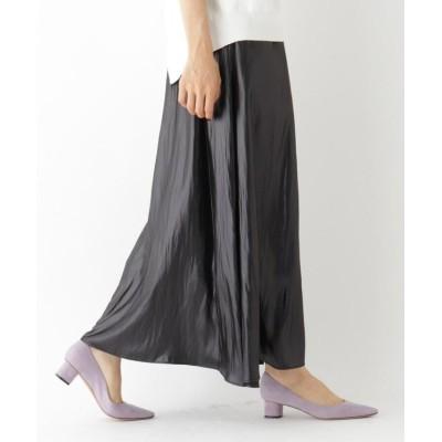 (aquagirl/アクアガール)【洗える】レザーライクギャザーマキシスカート/レディース ブラック(019)
