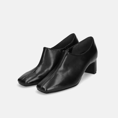 マミアン MAMIAN 5.5cm スクエアトゥプレートヒールブーティ/5310 (ブラック)