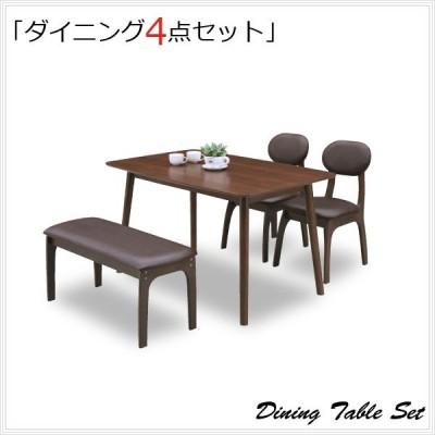 ダイニング テーブル ベンチ セット 4人 4点セット 北欧 おしゃれ 食卓セット