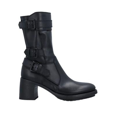 アン ドゥムルメステール ANN DEMEULEMEESTER ショートブーツ ブラック 38 革 ショートブーツ