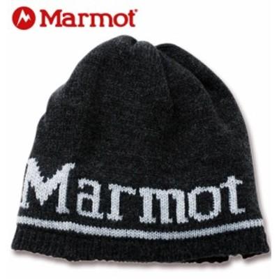 大きいサイズ Marmot ベーシックロゴニットキャップ ブラック 4L/56cm 1270-0330-2-49