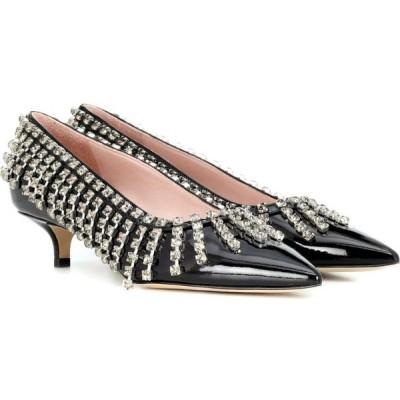 クリストファー ケイン Christopher Kane レディース パンプス シューズ・靴 crystal fringe patent leather pumps Black