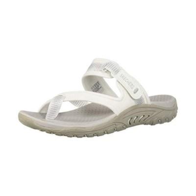 Skechers Women's Reggae-Seize The Day-Toe Thong Sandal Flip-Flop, White, 5