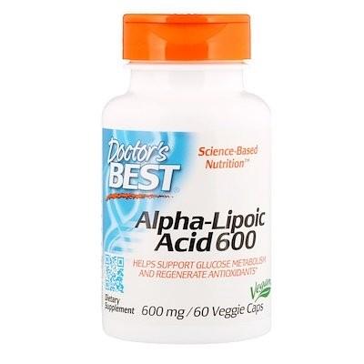 ベスト アルファリポ酸、600 mg、植物性カプセル 60粒
