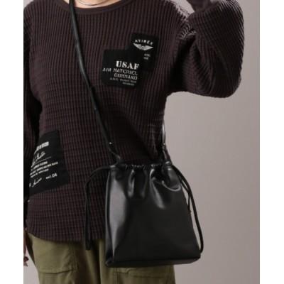AVIREX Belle / 【WEB&DEPOT限定】ドローストリング ショルダーバッグ/ 巾着バッグ/ DRAWSTRING SHOULDER BAG WOMEN バッグ > ショルダーバッグ